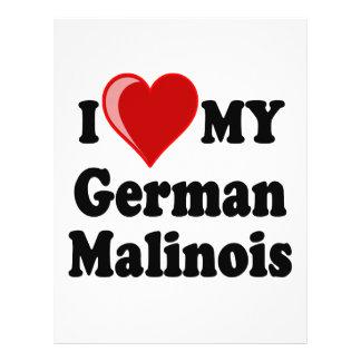 I Love (Heart) My German Malinois Dog Card 21.5 Cm X 28 Cm Flyer