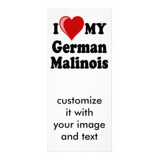 I Love (Heart) My German Malinois Dog Card Customised Rack Card