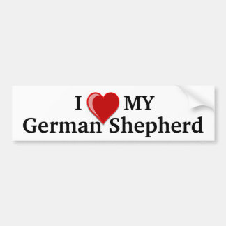 I Love (Heart) My German Shepherd Dog Bumper Sticker