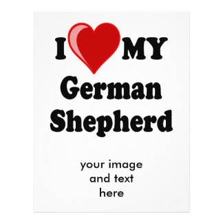 I Love (Heart) My German Shepherd Dog Flyer Design