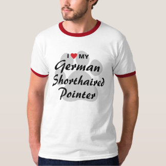I Love (Heart) My German Shorthaired Pointer Shirts