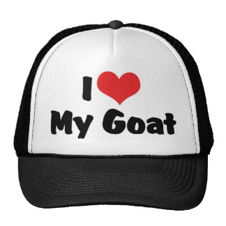 I Love Heart My Goat Cap