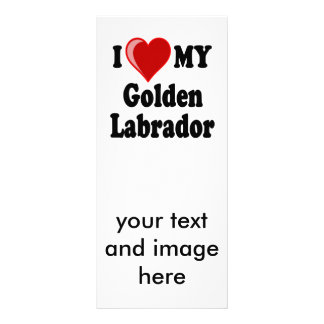 I Love (Heart) My Golden Labrador Dog Personalised Rack Card