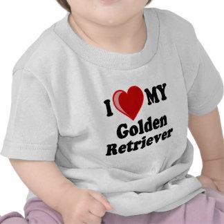I Love (Heart) My Golden Retriever Dog Shirts