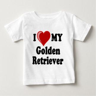 I Love (Heart) My Golden Retriever Dog T-shirt