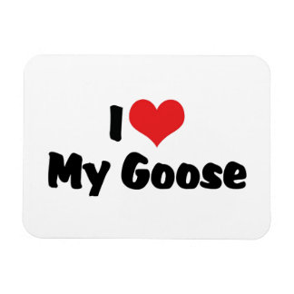 I Love Heart My Goose - Bird Lover Magnet