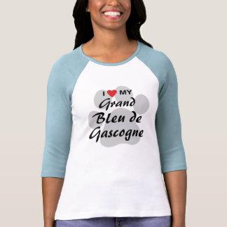 I Love (Heart) My Grand Bleu de Gascogne Tshirts