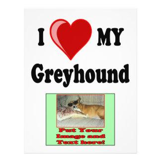 I Love (Heart) My Greyhound Dog Gifts Flyer