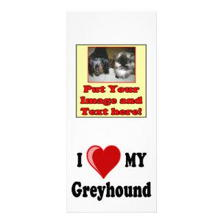I Love (Heart) My Greyhound Dog Gifts Custom Rack Cards