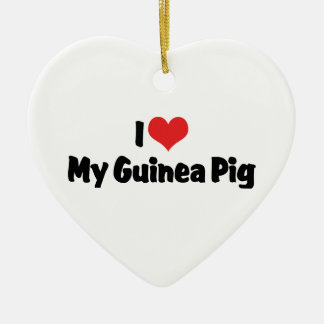I love Heart My Guinea Pig Christmas Ornament