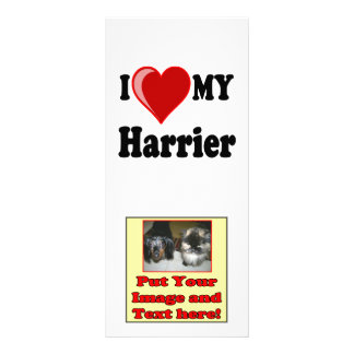 I Love (Heart) My Harrier Dog Rack Card Design