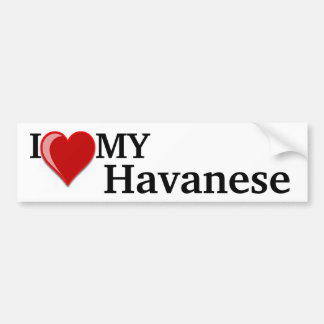 I Love (Heart) My Havanese Dog Bumper Sticker