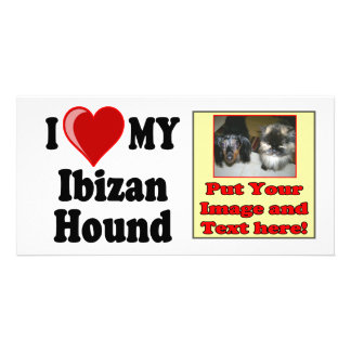I Love Heart My Ibizan Hound Dog Custom Photo Card