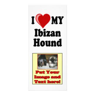 I Love (Heart) My Ibizan Hound Dog Rack Card Template