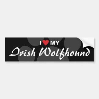 I Love (Heart) My Irish Wolfhound Bumper Sticker