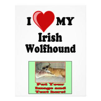 I Love (Heart) My Irish Wolfhound Dog 21.5 Cm X 28 Cm Flyer