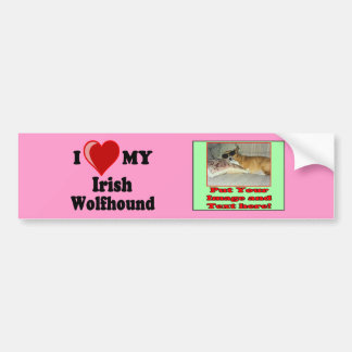 I Love (Heart) My Irish Wolfhound Dog Bumper Sticker