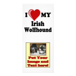 I Love (Heart) My Irish Wolfhound Dog Rack Card Design