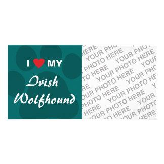 I Love Heart My Irish Wolfhound Photo Card