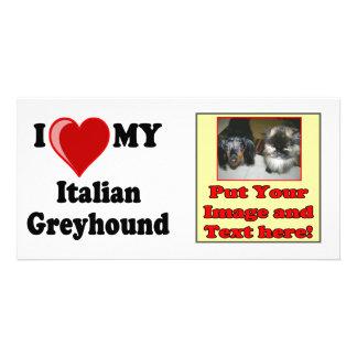I Love Heart My Italian Greyhound Dog Photo Cards