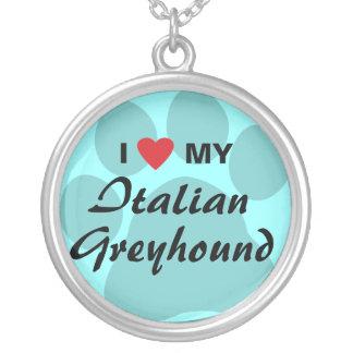 I Love (Heart) My Italian Greyhound Jewelry