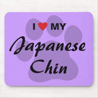 I Love Heart My Japanese Chin Mousepads