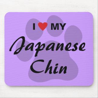 I Love Heart My Japanese Chin Mousepads