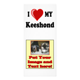 I Love (Heart) My Keeshond Dog Rack Card