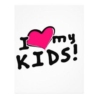 I love (heart) my kids! 21.5 cm x 28 cm flyer