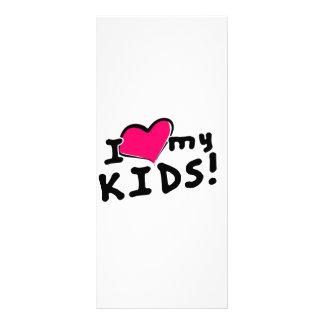 I love heart my kids customized rack card