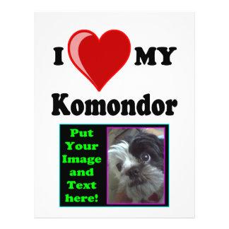 I Love (Heart) My Komondor Dog 21.5 Cm X 28 Cm Flyer