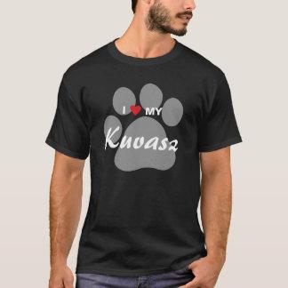 I Love (Heart) My Kuvasz Pawprint T-Shirt