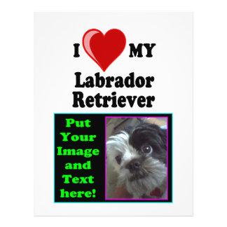 I Love (Heart) My Labrador Retriever Dog 21.5 Cm X 28 Cm Flyer