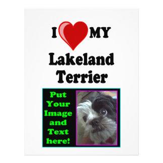 I Love (Heart) My Lakeland Terrier Dog 21.5 Cm X 28 Cm Flyer