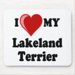 I Love (Heart) My Lakeland Terrier Dog Mousepad