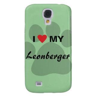 I Love (Heart) My Leonberger Pawprint Galaxy S4 Case