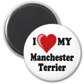I Love (Heart) My Manchester Dog 6 Cm Round Magnet