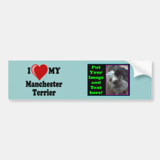 I Love (Heart) My Manchester Dog Bumper Stickers