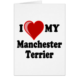 I Love Heart My Manchester Dog Cards