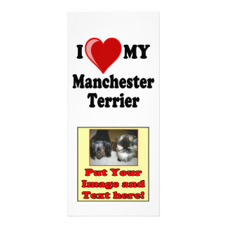 I Love (Heart) My Manchester Dog Custom Rack Card