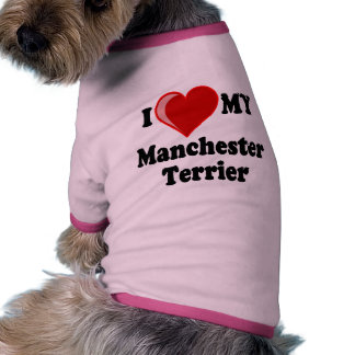 I Love Heart My Manchester Dog Pet Clothes