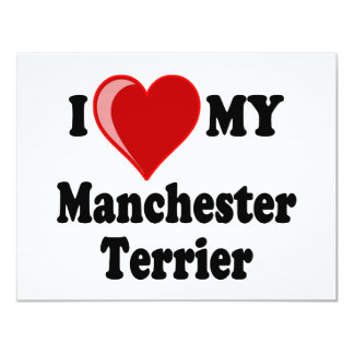 I Love (Heart) My Manchester Dog Custom Invite