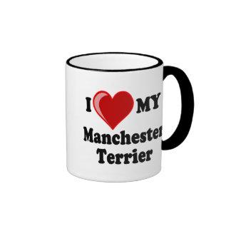I Love (Heart) My Manchester Dog Mugs