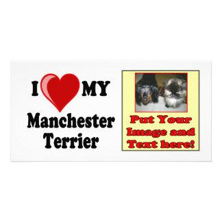 I Love (Heart) My Manchester Dog Photo Cards