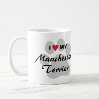 I Love (Heart) My Manchester Terrier Basic White Mug