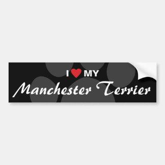 I Love (Heart) My Manchester Terrier Car Bumper Sticker