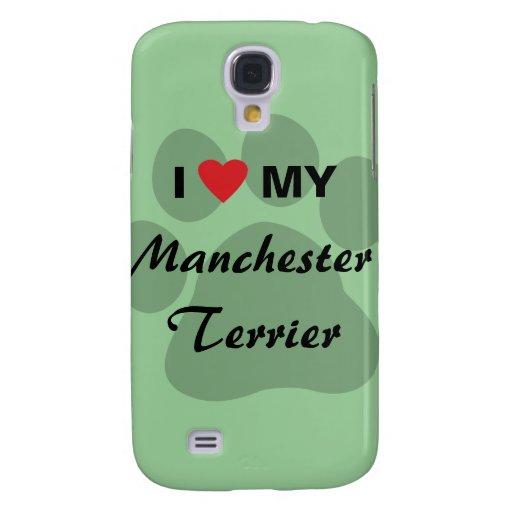 I Love (Heart) My Manchester Terrier Samsung Galaxy S4 Case