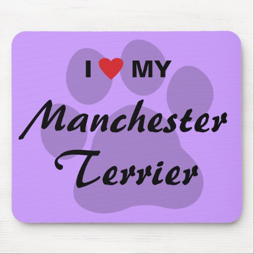 I Love (Heart) My Manchester Terrier Mouse Pad