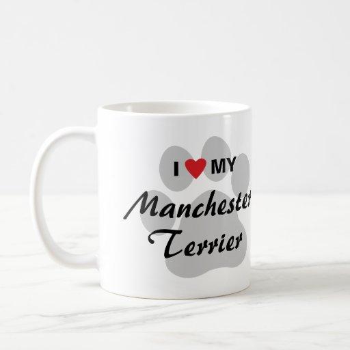 I Love (Heart) My Manchester Terrier Mug