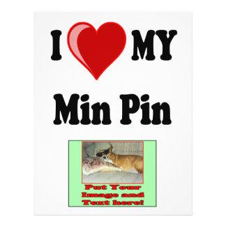 I Love (Heart) My Min Pin Dog Flyer Design